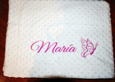 Manta Maria + mariposa 2